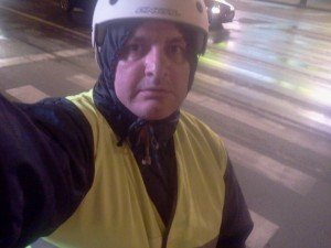 Cu bicicleta prin Iași, regulamentar. Selfie.