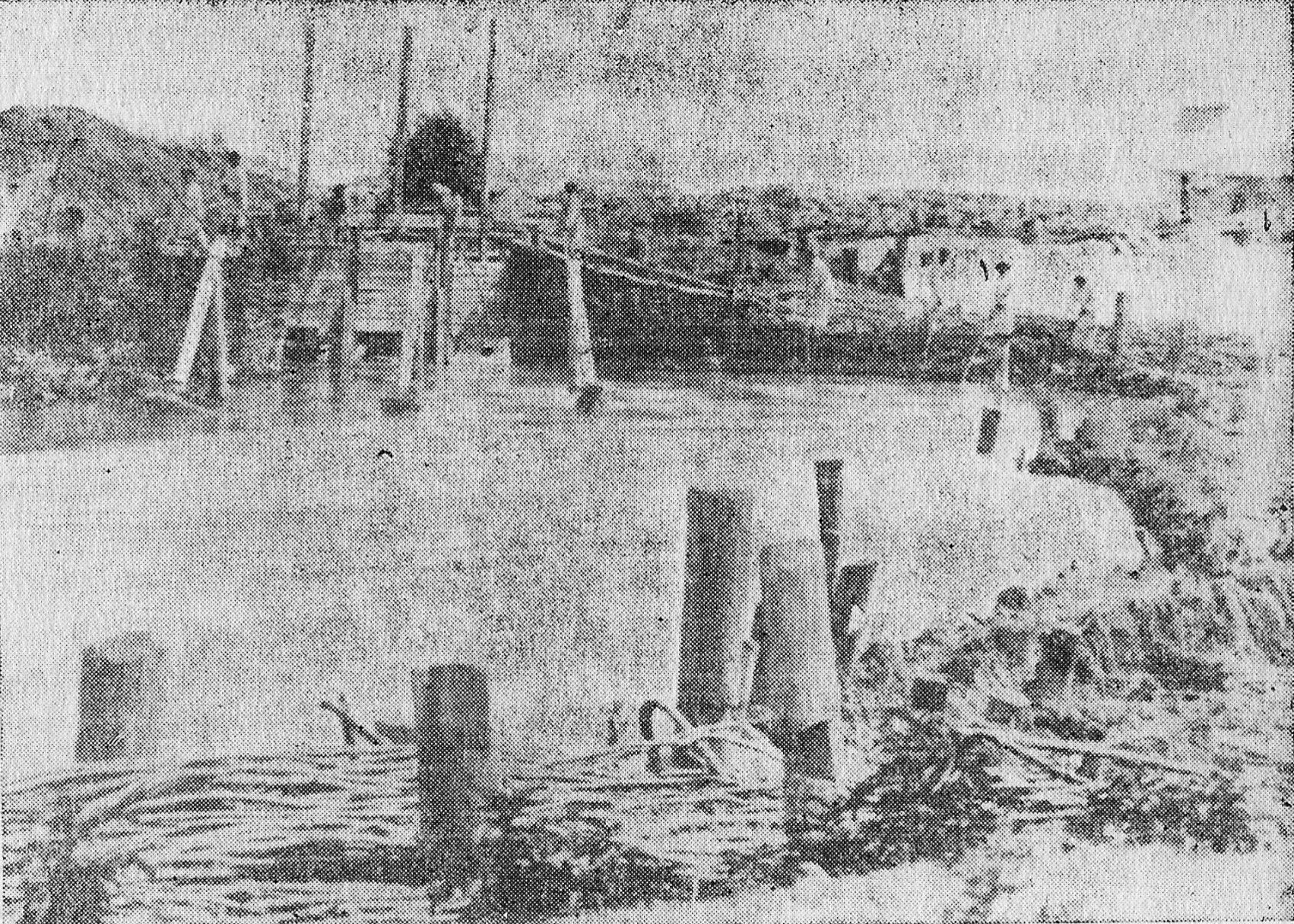 Lucrari de canalizare a Dambovitei in 1884 sub conducerea inginerului Alexandre Boisquerin
